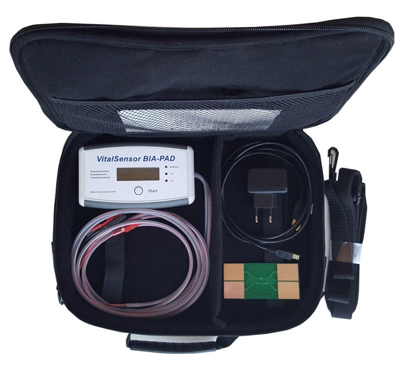 Vitalsensor BIA-PAD mit Tasche